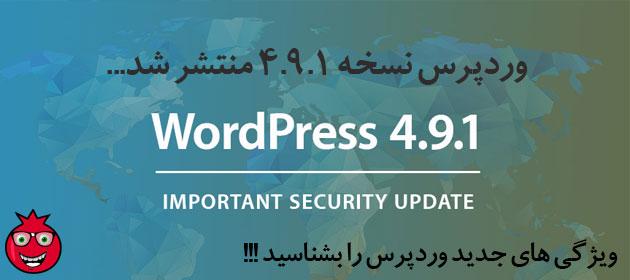 ویژگی های وردپرس 4.9.1