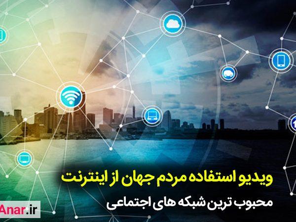 استفاده اینترنت در جهان - آکادمی انار