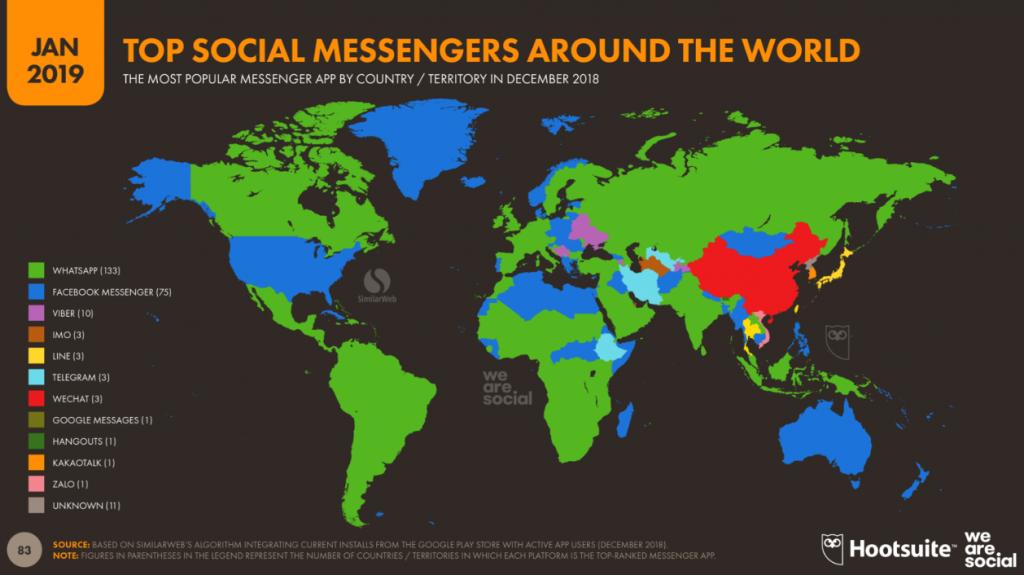 آمار استفاده از شبکه های اجتماعی در جهان - آکادمی انار